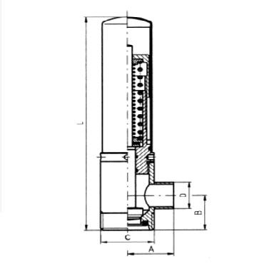 5360 Клапан ограничительный угловой резьба/сварка 90 град. схема