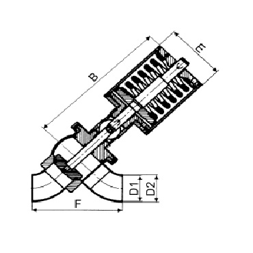 4729P Клапан седельный сварка/сварка пневматический схема