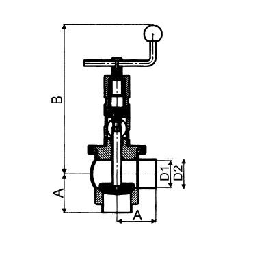 4730 Клапан седельный угловой сварка/сварка тип L схема