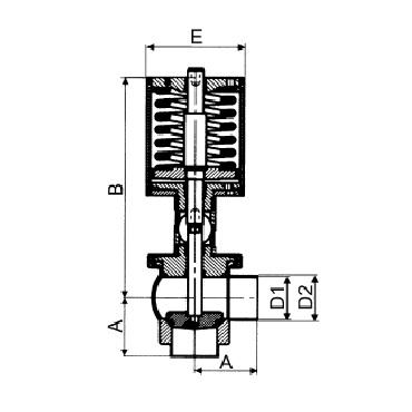 4730P Клапан седельный угловой сварка/сварка пневматический тип L схема