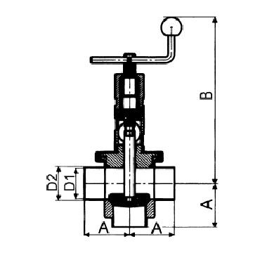 4731 Клапан седельный двойной сварка/сварка тип Т схема