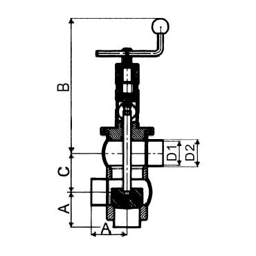 4732 Клапан седельный передвижной сварка/сварка/сварка тип LL схема