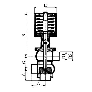 4732P Клапан седельный передвижной пневматический сварка/сварка/сварка тип LL схема