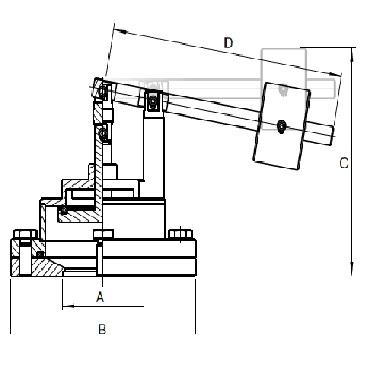 5339 PN Кран вакуумный с грузом фланцевое соединение схема