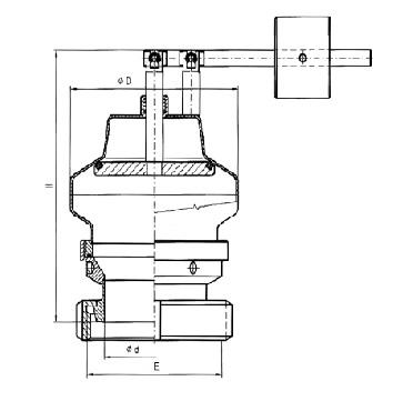 5340 KM Кран вакуумный с грузом соединение конус+гайка схема