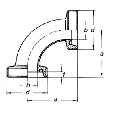 3006 Отвод (угольник) 90 схема