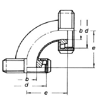 3008 Отвод (угольник) 90 схема