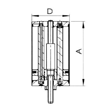 4740 Вертикальный пневматический привод двойного действия воздух/воздух схема