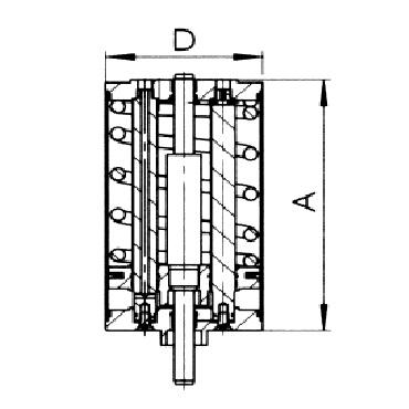 4741 Вертикальный пневматический привод одинарного действия воздух/пружина схема