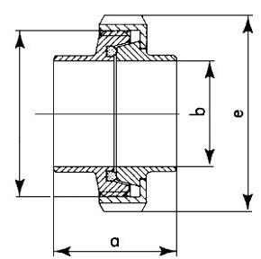 2012 Резьбовое соединение приварное (Муфта молочная) в сборе схема