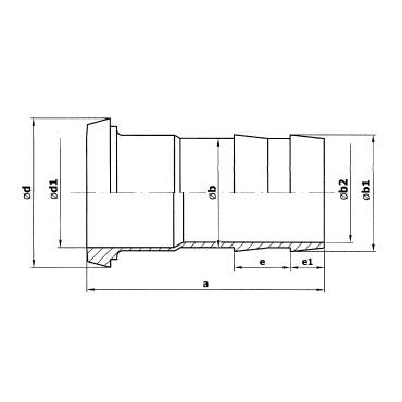 2052 Шланговая надставка конус схема