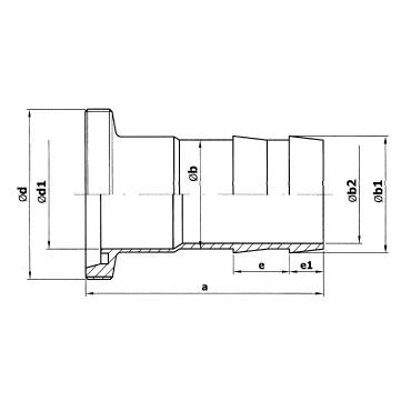 2051 Шланговая надставка резьба схема