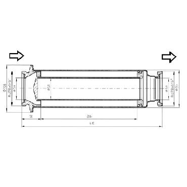 5347 Трубный фильтр прямой левый схема