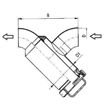 5348 Трубный фильтр прямой сварка/сварка схема