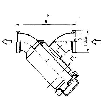 5349 Трубный фильтр прямой резьба/резьба схема