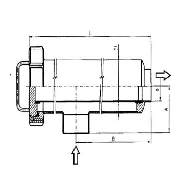 5350 Трубный фильтр прямоугловой сварка/сварка схема