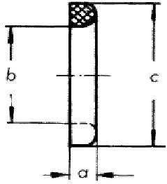 2004 Уплотнения NBR, EPDM, SILICON схема